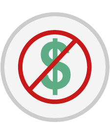No money required icon